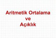 aritmetik-ortalama-aciklik