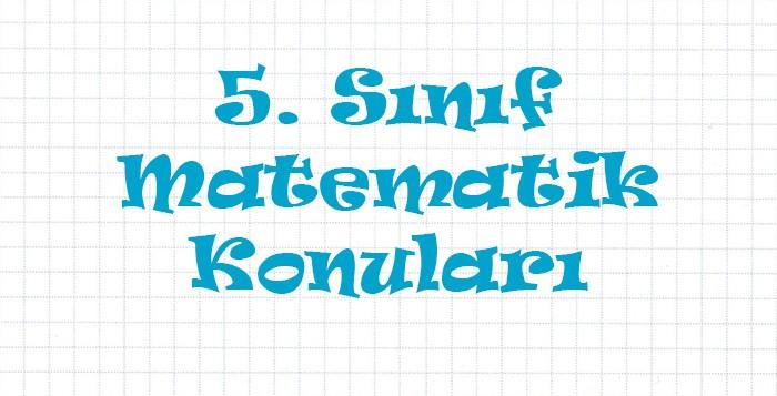 5-sinif-matematik-konulari